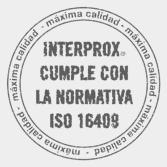 Interprox cumple con la normativa ISO 16408